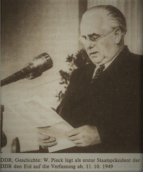 Wilhelm Pieck, Eid auf Verfassung,11.10.1949 Seite 434 a.jpg